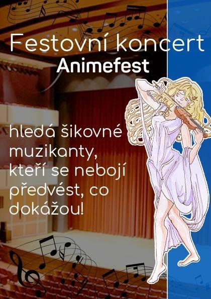 Festovní koncert, přihlaste se
